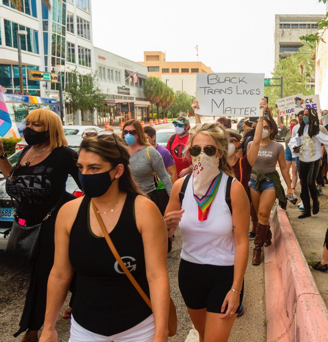 Trans lives matter protest