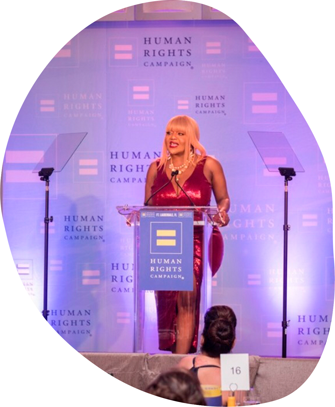 Speaker at human rights conference